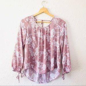 Charlotte Russe Blush Peasant flower top size S